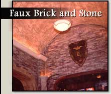 Faux Brick and Stone Finishes