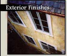 Exterior Stucco and Brick Finishes