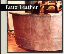 Faux Leather Finishes
