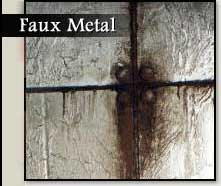 Faux Metal Finishes